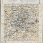 A. A. London Route Map - 6 pm 5th December. Printed by The Automobile Association