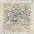 A. A. London Route Map - 6 pm 8th December. Printed by The Automobile Association