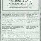 1993 Denver Water Xeriscape Seminars