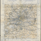 A. A. London Route Map - Noon 5th December. Printed by The Automobile Association