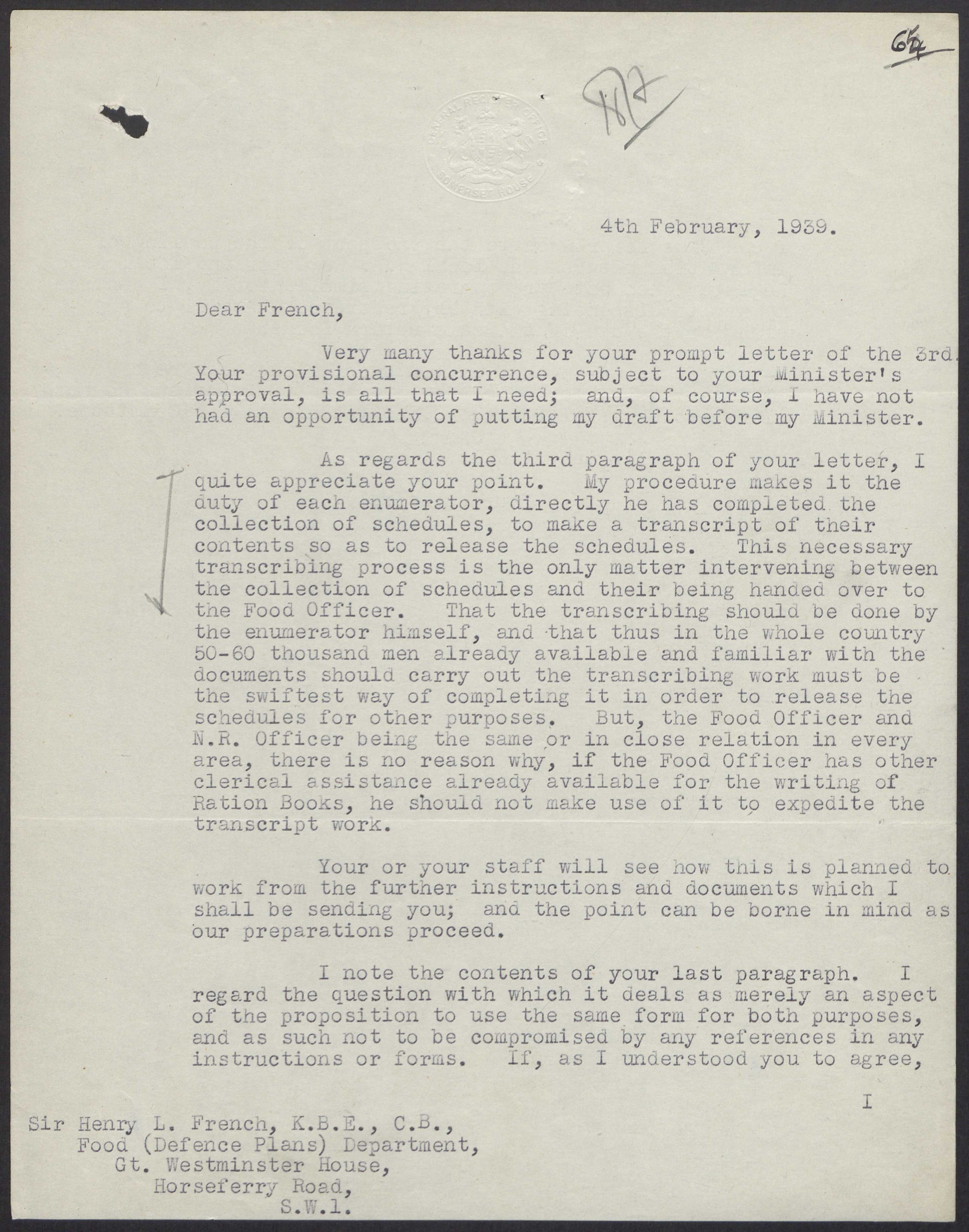 Letter from Sylvanus P  Vivian to Henry L  French re