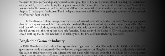 Fire in a Bangladesh Garment Factory   Alexander Street, a ProQuest