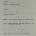 Ambassador Armin H. Meyer's Schedule, Sunday-Monday, November 21-22, 1965