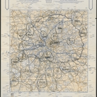 A. A. London Route Map - 6 pm 7th December. Printed by The Automobile Association