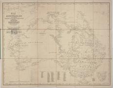 Map of Australia, 1864