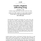 Chapter 119: London, England, suffocating smog
