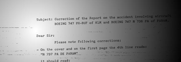 Joint Report On the Accident Involving Aircraft Boeing 747