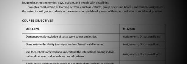 Sample: Online MSW Field Seminar | Alexander Street, a