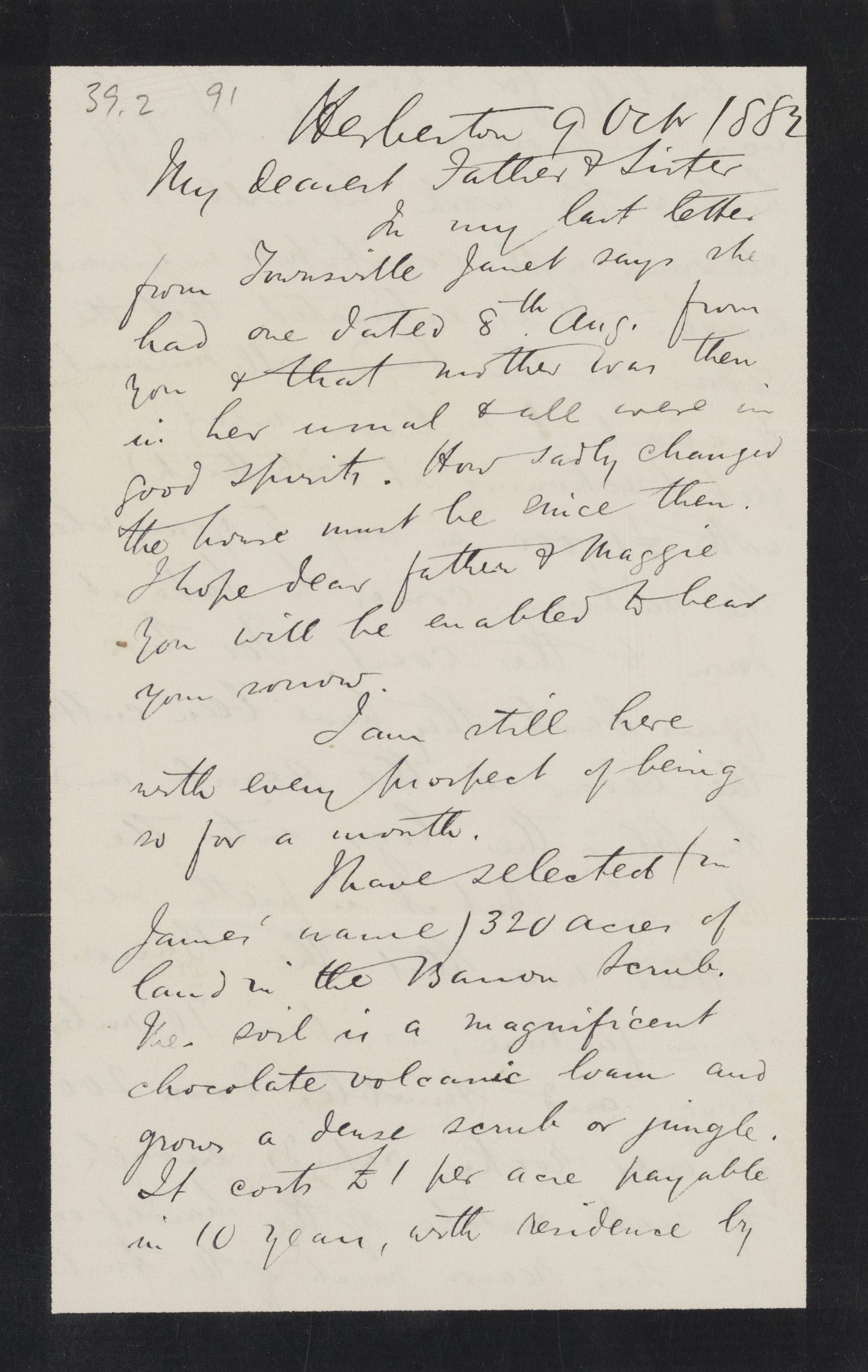 Letter from Robert Logan Jack to Robert and Maggie Jack