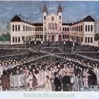 The Rally of the Romanian Peasants at Blaj in Transylvania on the 15th of May, 1848 (colour lithograph)