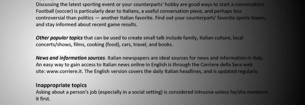 Italy: Conversation Topics | Alexander Street, a ProQuest