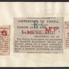Articles from Various Newspapers re: Armistice in China Conflict, August and November 1918