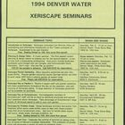 1994 Denver Water Xeriscape Seminars