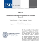 United States-Canadian Negotiations for Acid Rain Controls