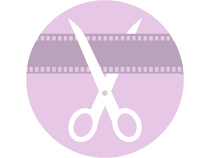 Logo of Scissors cutting film